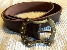 GENUINE JUST CAVALLI LEATHER BELT WITH RHINESTONES 90CM