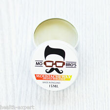 Mo Bro's - Orange Bergamot Moustache Wax 15ml Tin Made in England