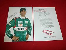 Jaguar racing pilote mark webber carte