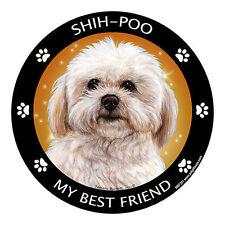 My Shih Poo Is My Best Friend Dog Car Magnet