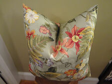 Decorative Pillow Cover Floral Patterns Grey Green Orange Yellow Red Violet