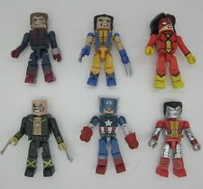 lot 6 Marvel Universe Legends Minimates Figure Spiderman Wolverine captain E72A