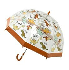 Bugzz Kids Dino Brolly Domo Para Niños / CHILDS Transparente Pvc Paraguas divertido Sombrillas