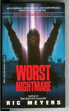 WORST NIGHTMARE by Ric Meyers, rare US Dell horror dead zombie pulp vintage pb