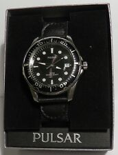 PULSAR BY SEIKO MEN'S DATE DIVER VX42 XO62 100 M WR DOUBLE BOX AND NEW BATTERY!