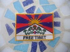 ॐ Patch Patch Goa psy Free Tibet Flag Fane dalai lama hippie Peace yoga ॐ
