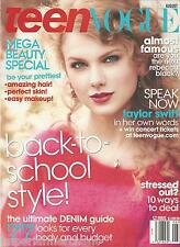 Teen Vogue magazine Taylor Swift Denim guide Beauty special Back to school style