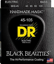 DR BKB-45 4 string Black Beauties Black Coated Bass Guitar Strings 45-105 MED