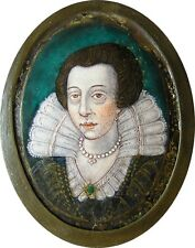 Fabulous Early 17th century Limoges Enamel Portrait Miniature Plaque c. 1620