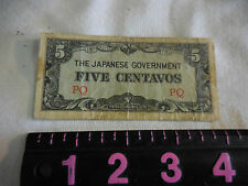 Vintage WWII The Japanese Government Five Centavos