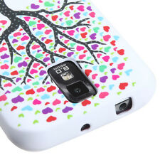 for Samsung Galaxy S2 T989 (T-Mobile) White Love Tree Heart Soft Rubber TPU Case