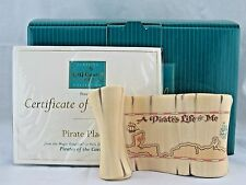 "WDCC ""Pirate Plaque"" Scroll from Disney's Pirates of the Caribbean in Box COA"