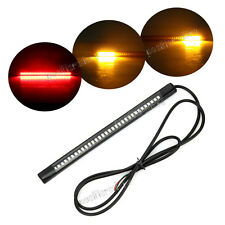 Universal LED Motorcycle Turn Signal Light Strip 32 LED Flashing Tail Stop Light