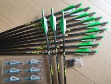 "PSE CROSSBOW BOLTS BY VICTORY 24 PACK CARBON H/MOON 20"" FREE POINTS !"