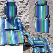 Backpack Beach Chair lightweight aluminum 1.5 lbs low on sand lounger mat/pouch