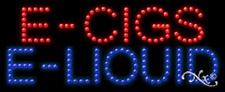 "NEW ""E-CIGS E-LIQUID"" 27x11 SOLID/ANIMATED LED SIGN w/CUSTOM OPTIONS 21391"