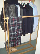 The Futon Company Limited Edition Wood Double Garment Rail Clothes Clothing Rack