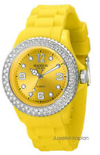 Madison New York  U4101K5 Juicy Glamour  Damenuhr Silikon Mädchenuhr gelb neu