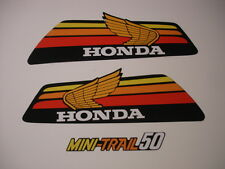 1978 Honda Z50 Gas Tank and Side Panel Decal Set AHRMA