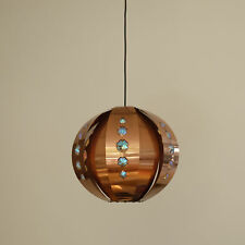 Free shipping* Vintage 60s Midcentury Danish Coronell Copper pendant light lamp