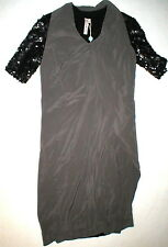 New Womens 4 NWT Designer Antonio Marras Italy Dress 40 Silk Sequins Black Gray