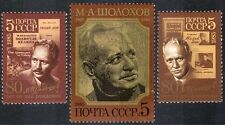 Russia 1985 Sholokov/Books/Literature/Writers/Nobel Prize/People 3v set (n43185)