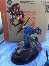 Sideshow Blood Elf Rogue vs Draenei Paladin Statue -BLIZZARD EMPLOYEE SP VERSION