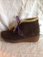 Clarks Grey Suede Ankle Boots Size 3