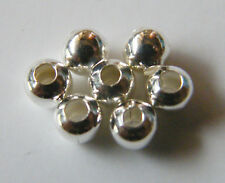 500pcs 4mm Round Metal Iron Spacer Beads - Bright Silver
