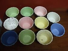 ONE OF A KIND RARE Lot of 11 Shawnee USA Pottery #443 Test Flower Pots 3 X 4.75""