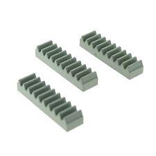 3 x Lego Technic Zahnstange alt-hell grau 1x4 für Technik Windefür Set 8461 3743