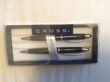 CROSS Ball Point Pen & Pencil Set Black New Boxed Graduation Gift Birthday