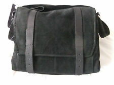 All Saints Thorpe MESSENGER Bag BLACK  LEATHER LAPTOP SLEEVE  ZIP POCKET  BNWT