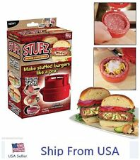 Stufz Stuffed Burger Press Hamburger Patty Maker Juicy BBQ Grill As Seen On TV U
