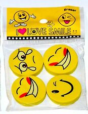 36 Smile Erasers 4 Assorted Birthday Party Loot Bag Fillers Christmas Stationary