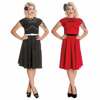 Hell Bunny Noreen Dress 40s 50s Tea Party Pin Up Retro Rockabilly Vintage Style