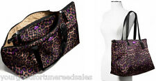 NWT COACH WEEKENDER Shoulder PACKABLE Overnight NYLON Ocelot PURPLE TOTE F 77321