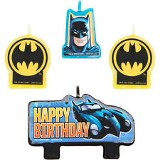 Batman Birthday Candles 4pcs Cupcake Cake topper Decorations Party Supply Favor
