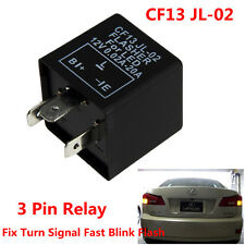 3 Pin Electronic LED Flasher Relay CF13 JL-02 Fix Turn Signal Fast Blink Flash