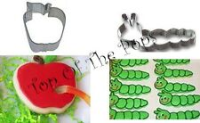 The Very  Hungry Caterpillar 1 apple and 1 caterpillar cookie cutter set