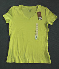 NWT Women's Sonoma Life+Style Every Day Tee v-neck short-sleeve yellow zest PXS