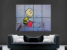 BANKSY CHARLIE BROWN GRAFFITI ARTIST  WALL POSTER ART PICTURE PRINT LARGE  HUGE
