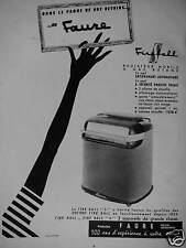 PUBLICITÉ 1956 FAURE RADIATEUR MOBILE A GAZ BUTANE - ADVERTISING