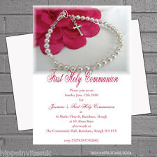 Girls 1st First Holy Communion Childrens Party Invitations x 12 +envs H0419