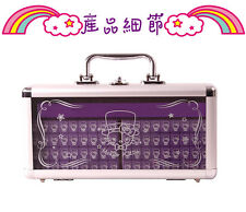 New Hello Kitty 20mm Purple Mahjong Set With Case Mini Travel BONUS HK Chips