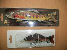 lotto 2  minnow esca artificiale snodata tipo rapala  swimbait multi segmenti