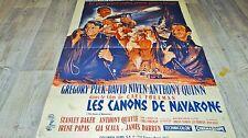 LES CANONS DE NAVARONE !  gregory peck a quinn affiche cinema