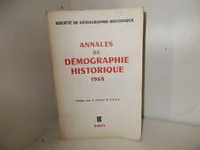 Annales de Démographie Historique, 1968 : Etudes, Comptes rendus, Chroniques...