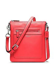 Sale NW/T AUTHENTIC***COACH*** LEGACY LEATHER SWINGPACK BRIGHT CORAL 47989
