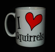 NEW I LOVE HEART SQUIRRELS CUP MUG GIFT PRESENT SQUIRREL LOVER NOVELTY HUMOUR